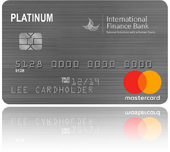 Sample of three IFB Credit Cards